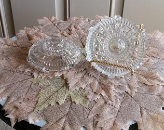 Vintage Pressed Glass Candleholders