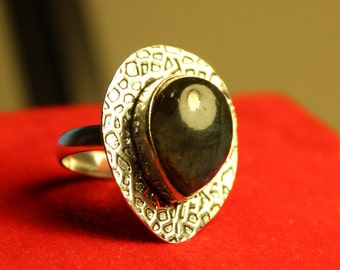 Modern 925 Silver Ring with Stone