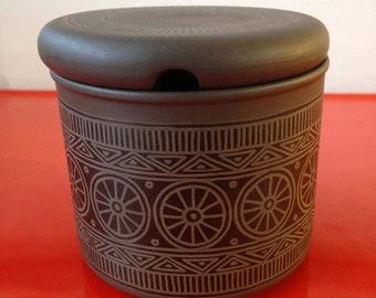 Vintage 1970's Hornsea Palatine preserve jar and lid