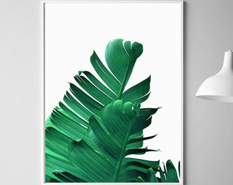 Banana Leaf Art Printable Leaf Palm Palm Leaf Wall Decor