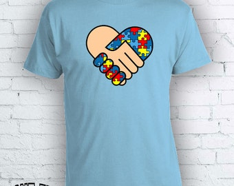 Autism Awareness Puzzle Piece T-shirt shirt Tee Autistic Support Educate Advocate Love Autism Awareness Month April Spectrum FEA142