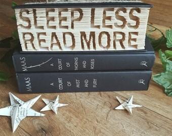 Sleep Less Read More Mark, Cut and Fold book folding pattern