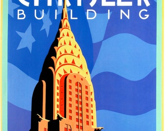 Chrysler Building. Architecture/Travel poster.