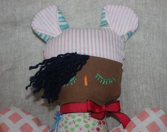 rag doll, fabric, lovely doll doll, Rosalie, doll for child