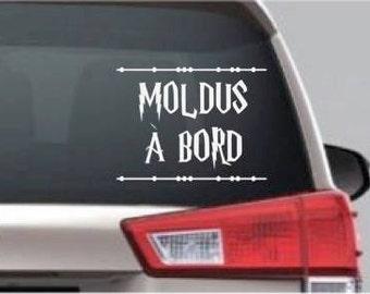 Sticker MUGGLES on board