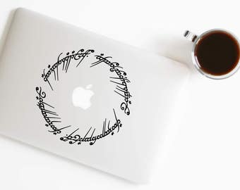 Lord of the Rings Elvish Decal Lord of The Rings Sticker for Macbook Laptop Trackpad Notebook Tablet Ipad Iphone Car Window Wall 32