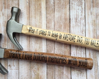 Personalized hammer perfect for Father's day for dad or grandpa
