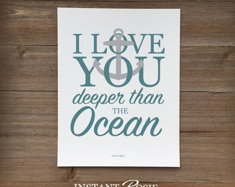 I Love You Deeper Than the Ocean - Instant download