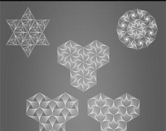 Parabola Pattern, Vector, Digital, Loop, Illusion
