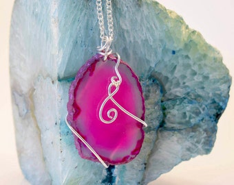 Sophia's Necklace : Pink Agate Necklace;