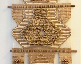 GORGEOUS Vintage Don Freedman Wall Hanging / 1970s Tapestry / Mid Century Modern / Woven Wall Hanging / Textile Art / Boho