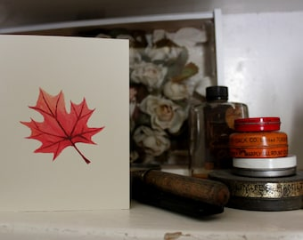 Maple Leaf - Limited Hand Signed Print and Greeting Card