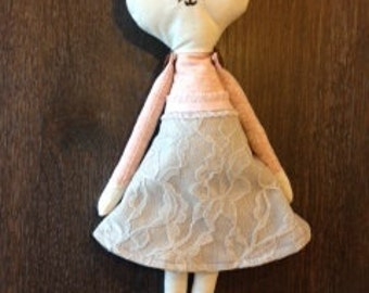 Mrs Mouse - Handmade Cloth Doll