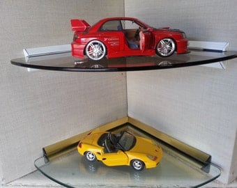 Floating Glass Corner Shelf