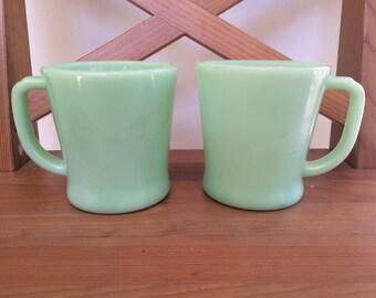 Vintage Jadeite Fire King Mugs