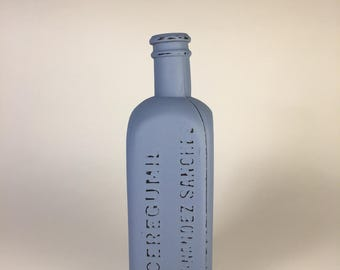 Distressed bottle, old apothecary bottle, Home decor, Vintage bottle, upcycled bottle, old bottle, decorated bottle