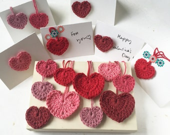 Freestyle message card  |  Crochet hearts  |  4 styles available  |  handmade with love