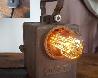Lantern of the 50s transformed into lamp vintage