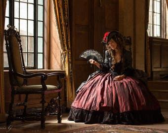 Marie-Antoinette evening dress, historical costume in taffetas - Medium size