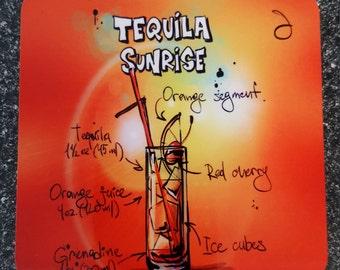 Tequila Sunrise Recipe Coaster