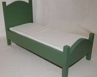 "Twin doll bed, american girl doll, 18"" doll"