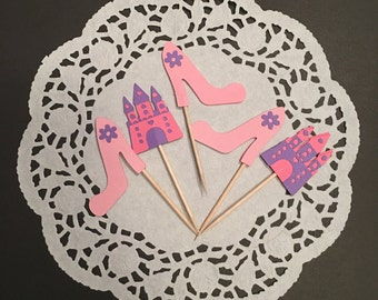 12 Princess Party Cupcake Toppers