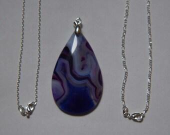 Purple Onyx Teardrop Agate Pendant