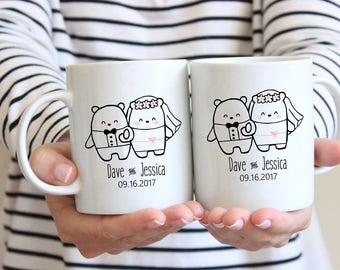 Married Couple Coffee Mugs,Bridal coffee mug,Mr. and Mrs. Coffee Mug,His and Her coffee cups,His and Her Mugs,Mr. and Mrs. Mug Set,Mug Set