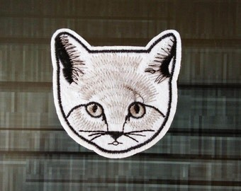 White Cat Face Patch