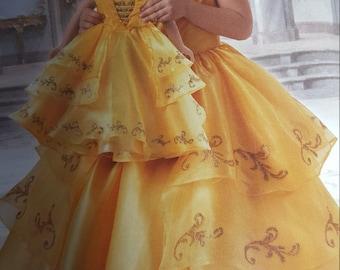 Belle Dress, girls sizes 3 - 14, beauty and the beast, Belle gown, Disney dress, Emma Watson Belle dress, Belle birthday, Belle ball gown