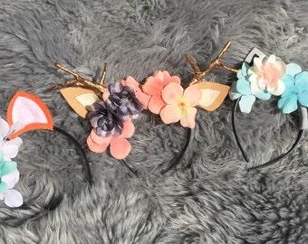 Animal flower headband