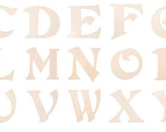 WREATH ADD-ON Custom Painted Monogram Wood Letter Initial- Your Choice of Style and Letter