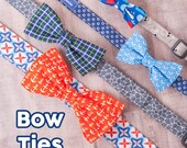 Dog Bow Ties - Stylish and handsome bow ties with sturdy snap closures for boy dog collars