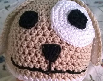 100% cotton crochet Hat worked on Doggie.