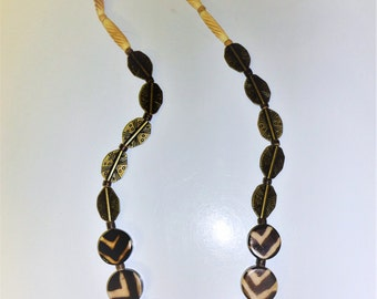 All Natural Agate Brass And Buffalo Horn