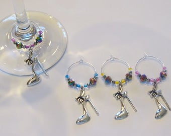 High Heels. Wine Charms. Wine Glass Charms.