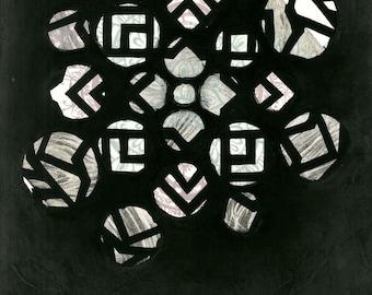 Deconstruct Mandala Print