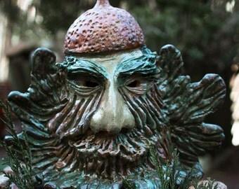 """Ceramic hand modeled """"Oak spirit"""""""