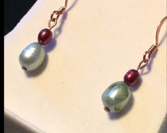 copper and fresh water pearls