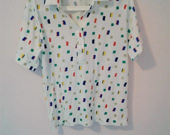 Mens Short Sleeve 80's Confetti Polo
