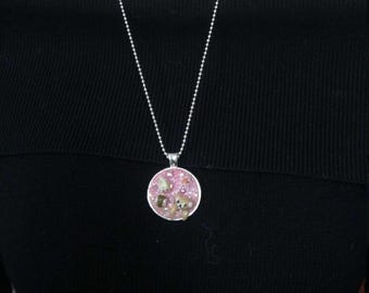 Rilakkuma with Sakura and Dessert pendant necklace/ polymer clay charm/ Dessert charm
