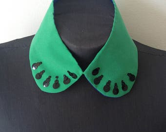 Peter Pan Collar, Green Silk