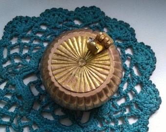 Old brass Pocket ashtray. Vintage brass ashtray