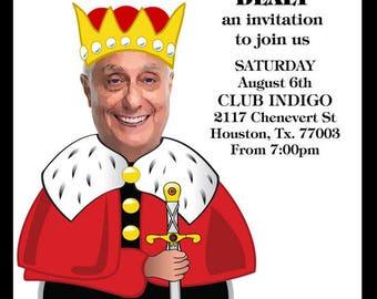 King of spades birthday invitation, Playing card birthday invitation, 40th birthday, 50th, 60th male birthday, 80th Male birthday invite