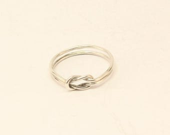 Stirling Silver Lovers' Knot Ring