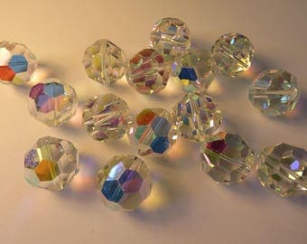 12 x art 5000 col CRYSTAL AURORE BOREALE - 18 mm