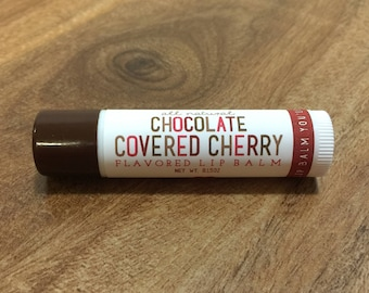 CHOCOLATE COVERED CHERRY Lip Balm - All Natural - Homemade