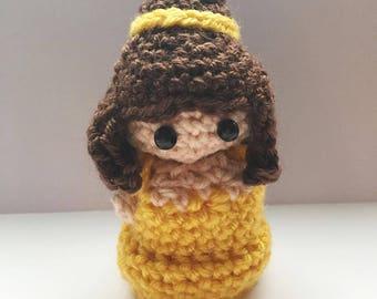 Princess Belle Amigurumi, Disney Princess, crocheted