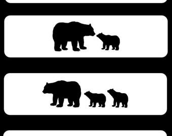 MAMA Bear Cuff Bracelet - Add-A-Cub - Bangle - Custom - Children - Grandchildren - Baby Bear - FUN!