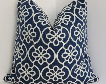 P/Kaumann Flow Quilted Decorative Pillow Covers- BlueBell Pillow Covers- Ivory Blue Pillow Covers- Woven Lattice Blue Ivory Pillow Covers